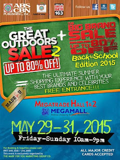 Big Brand Sale 2015,  The Great Outdoors Sale 2015, Philippine promotion, Philippine promo