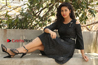 Telugu Actress Pavani Latest Pos in Black Short Dress at Smile Pictures Production No 1 Movie Opening  0092.JPG