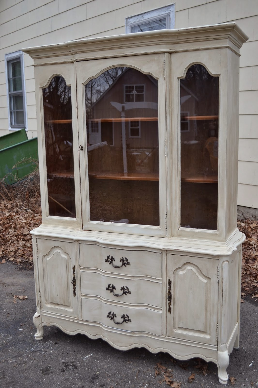 furniture hutch heir and space a french country china hutch
