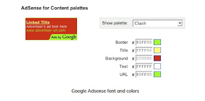 Google Adsense font and colors