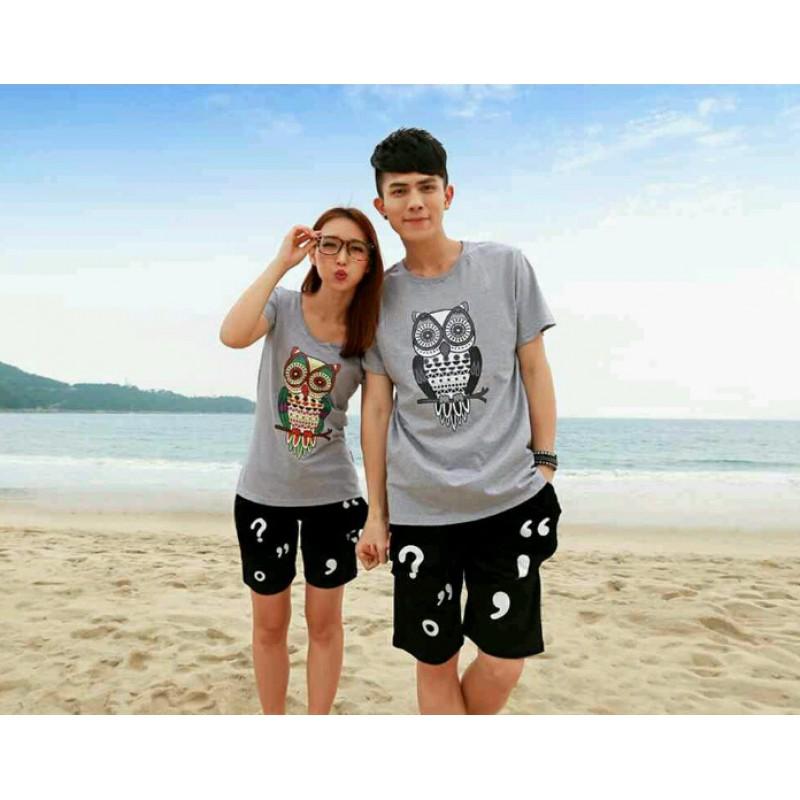 Jual Stelan CS Owl Couple Murah Jakarta Bahan Babytery Terbaru