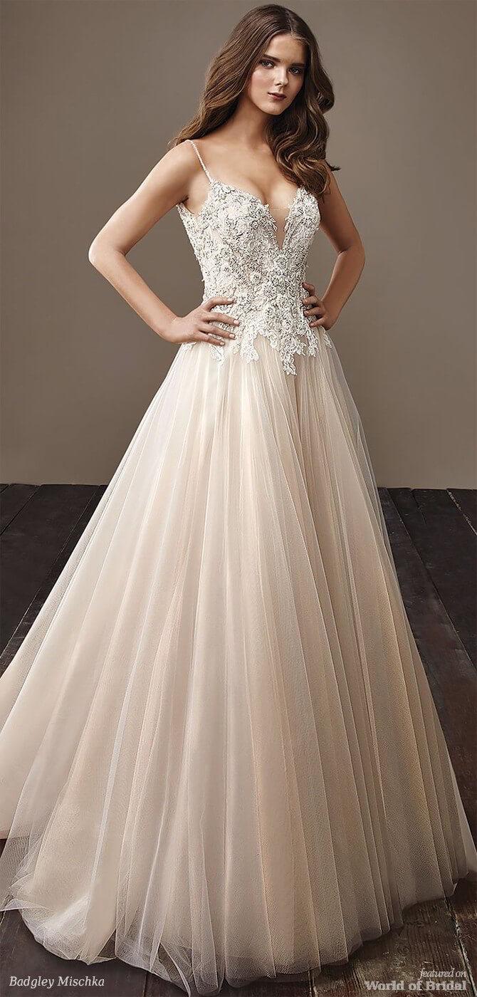 Badgley Mischka 2018 full-length bridal gown