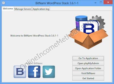 BitNami WordPress Stack Control Panel Windows 8