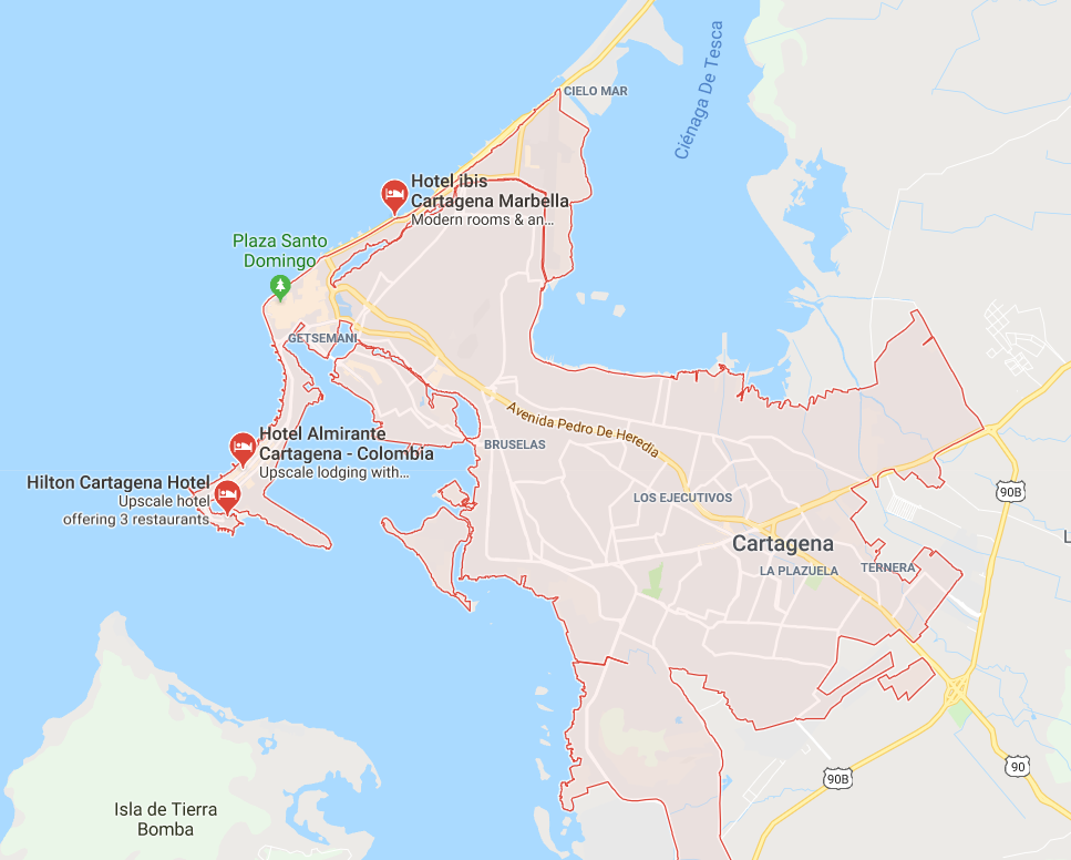 My Mappy Place: Add it to the Wishlist: Map of Cartagena, Colombia on