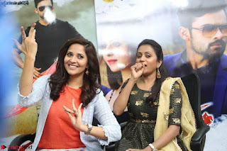 Actress Suma in Black Salwar Suit and Anusuya in orange Dress at winner movie press meet part 2 February 2017 (88).JPG