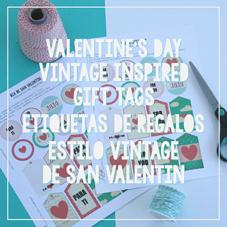 Valentine's Day Vintage Gift Tags-Etiquetas Regalos San Valentín