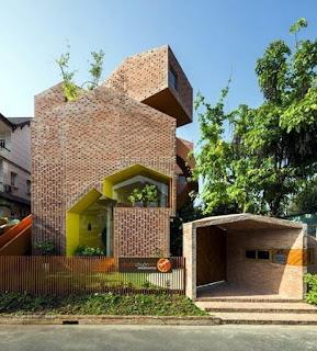 Rumah minimalis pasangan bata merah