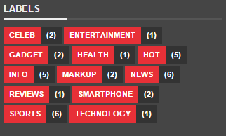 Labels widget blogger