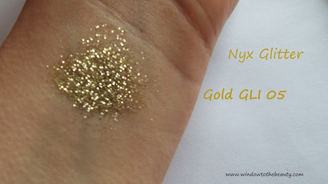 nyx Gold  brokat swatch