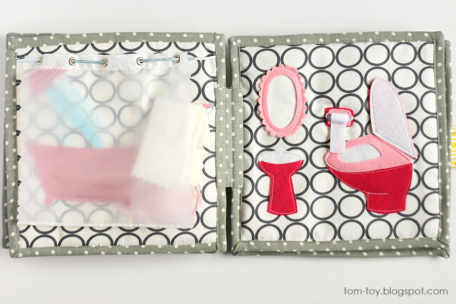 Cora's dollhouse, travel dollhouse, quiet busy book for girls, развивающая книжка, кукольный домик, ванная