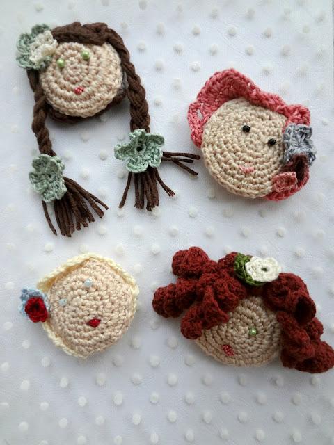 Crochet Girls' Brooches