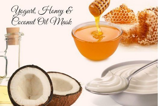 Coconut oil with honey mask