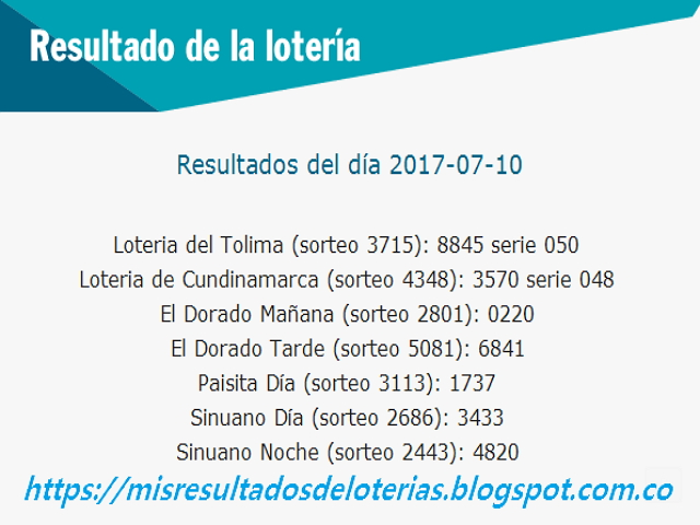 Como jugo la lotería anoche | Resultados diarios de la lotería y el chance
