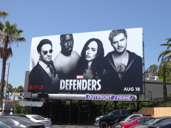 Defenders series launch billboard