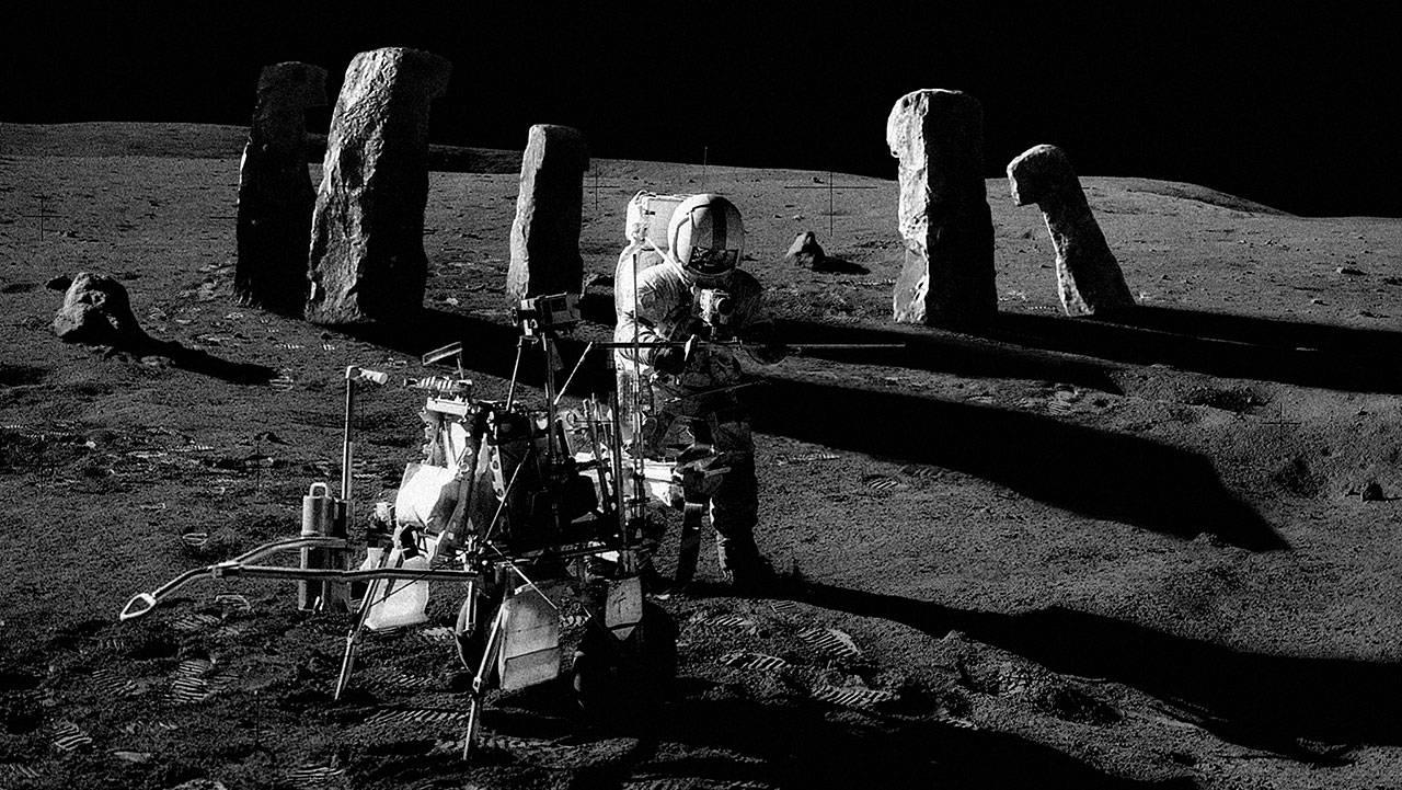 что было найдено на луне фото пятен одновременно может
