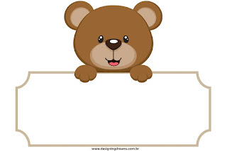 Teddy Bear for Boys Free Printable Labels.