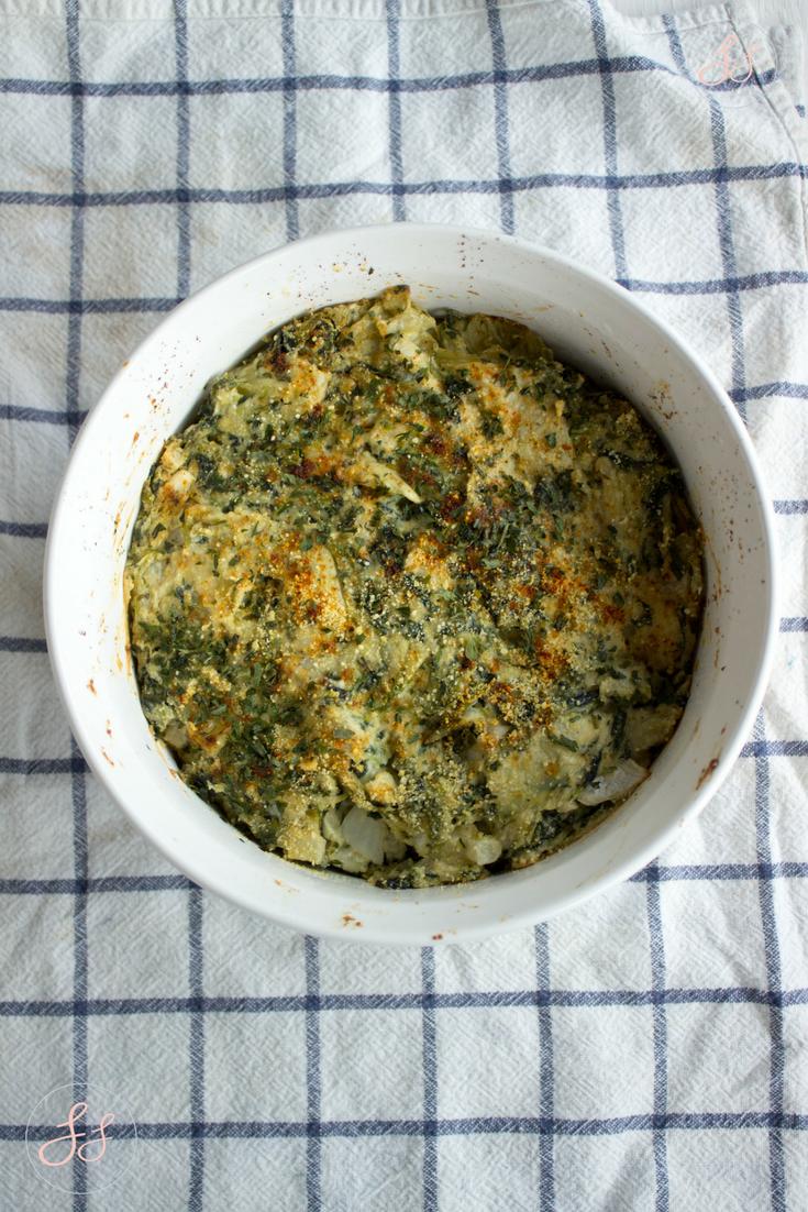 Dairy Free Spinach Artichoke Dip