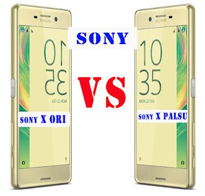Sony Xperia X Asli dan Palsu
