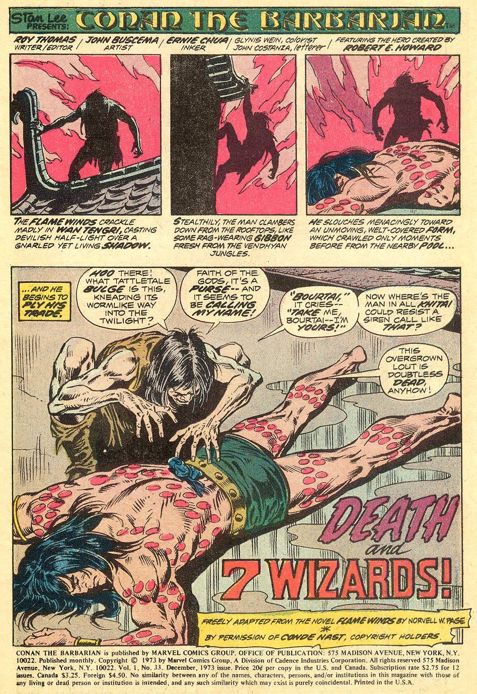 Conan the Barbarian (1970) 33 Page 2