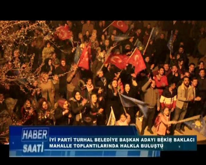 BAKLACI MAHALLE TOPLANTILARINDA HALKLA BULUŞARAK PROJELERİNDEN BAHSETTİ DESTEK İSTEDİ.