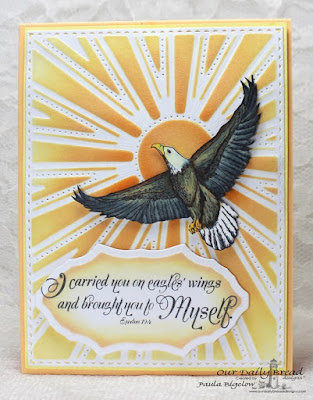 Our Daily Bread Designs, On Eagles Wings, Vintage Flourish Pattern Die, Sunburst Background Die, Designed by Paula Bigelow