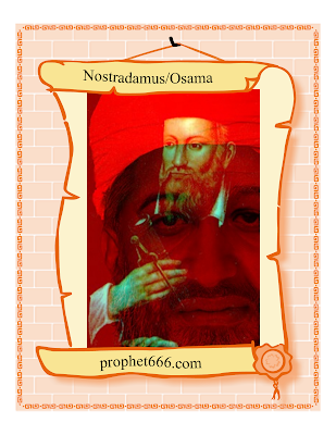 Nostradamus visualizing Osama 3D Artwork Image