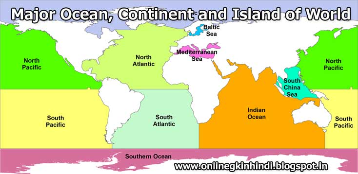 Names Of Oceans In Hindi And English Oceans In The World Major - 7 mahasagar name in hindi