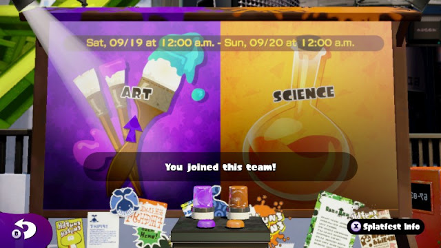 Splatoon Splatfest board Art Science