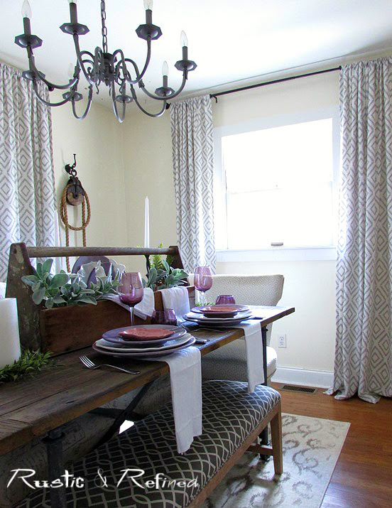 Dining room tour with touches of spring decor