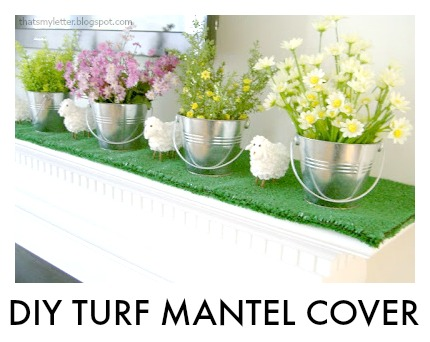 diy turf mantel cover