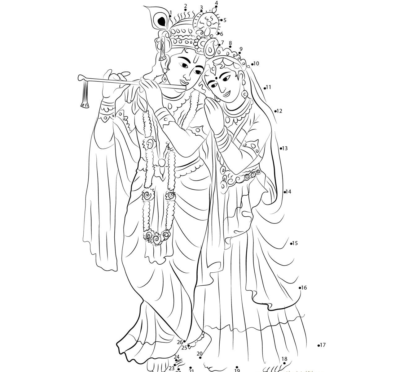 Lord krishna and radha pencil drawing images