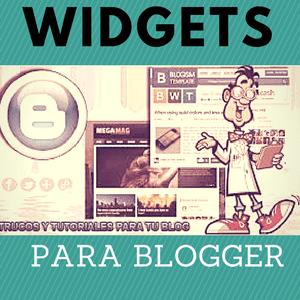 los widgets o aplicaciones en blogspot tiene sus claves para poner en el blog