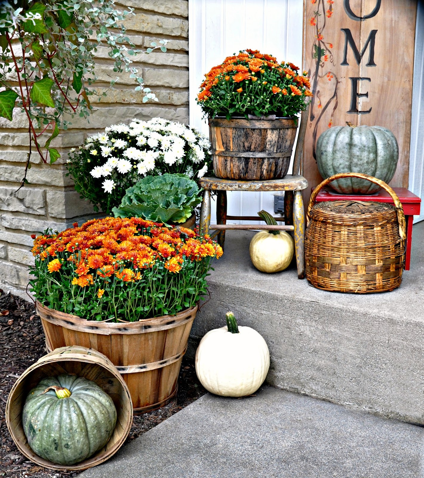 Fall Yard Decoration Ideas: Serendipity Refined Blog: Fall Harvest Porch Decor With