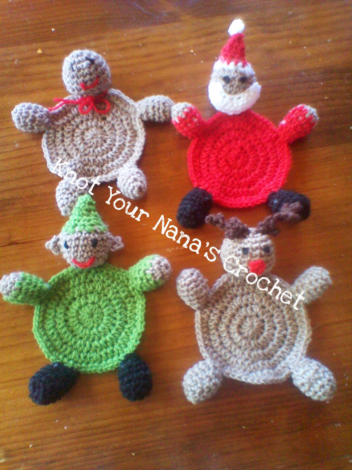 Knot Your Nanas Crochet Christmas Coasters