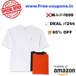 Men's T-Shirt (Pack of 3) @ ₹244