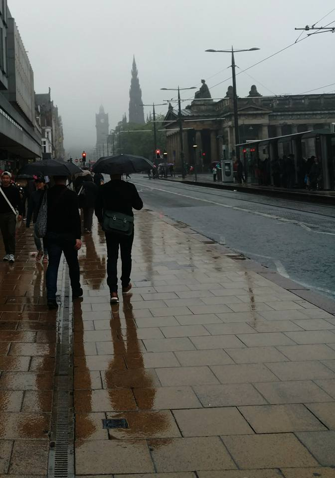 rainy summer day in Edinburgh