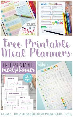 free menu planners