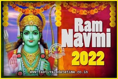 2022 Ram Navami Pooja Date & Time, 2022 Ram Navami Calendar