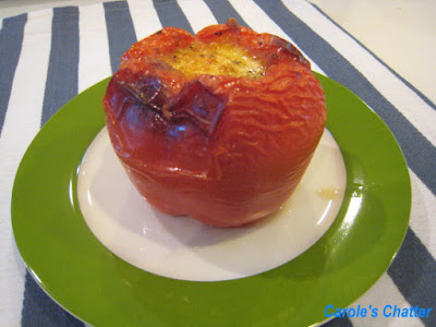 Carole's Chatter: Meatloaf cooked in Bell Peppers – Retro Fun