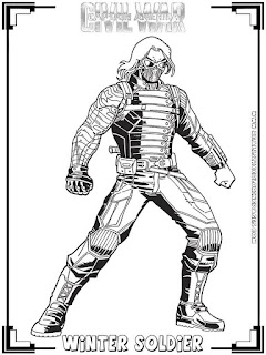 winter soldier captain america civil war coloring pages