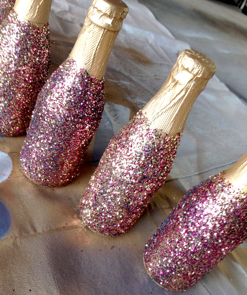 Bellagrey Designs Glitter Champagne Bottles Diy Tutorial