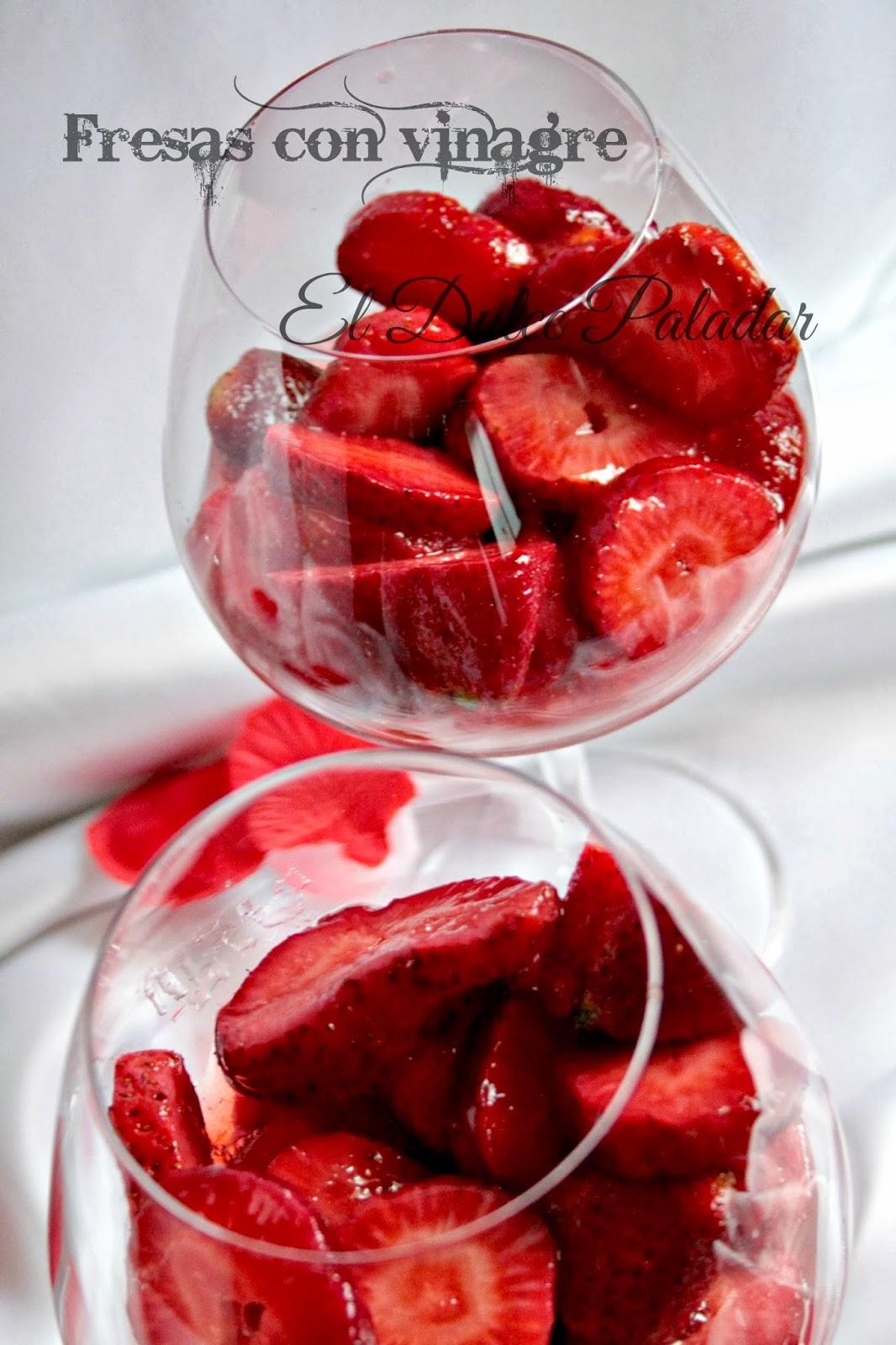 Fresas con vinagre