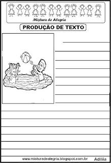 Produção de texto dia das crianças