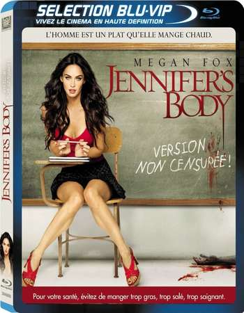 Poster Of Jennifer's Body 2009 English 300MB BRRip 480p - UNRATED Free Download Watch Online