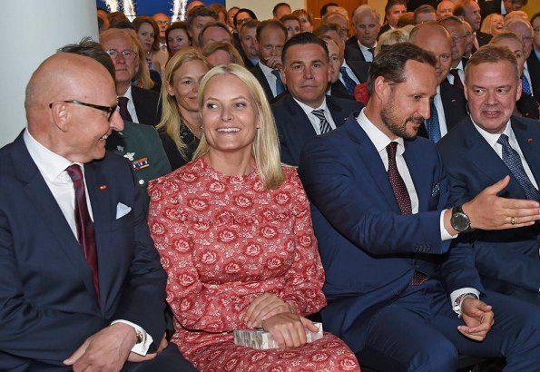 Crown Prince Haakon and Crown Princess Mette-Marit attended the 250th anniversary of Storebrand in Lysaker