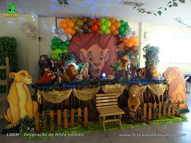 Decoração tema Rei Leão para festa de aniversário infantil - Barra RJ