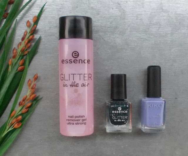 Essence Glitter in the air TE nail polish remover gel ultra strong Born to sparkle Kiko nail 338