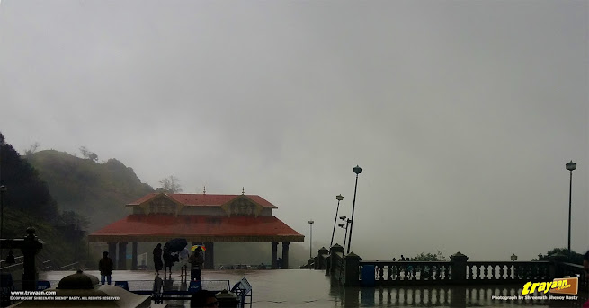 Foggy Talakaveri in Bhagamandala, Coorg, Kodagu district