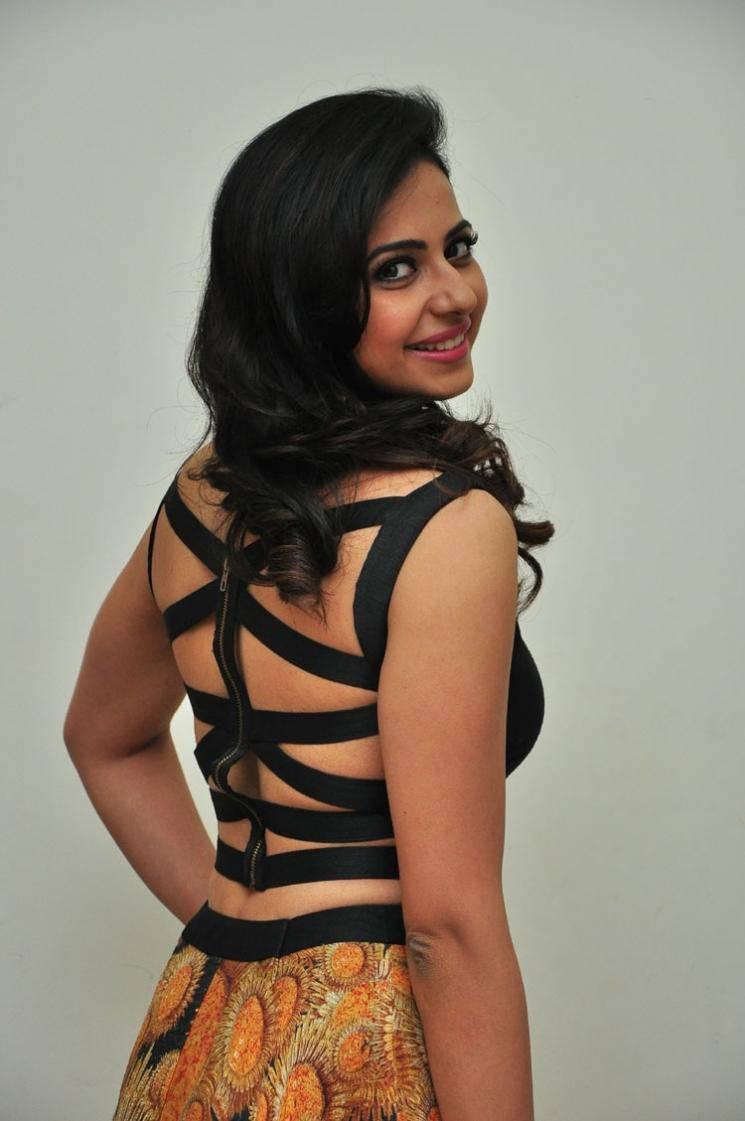 Rakul Preet Singh Images At Audio Launch In Black Dress