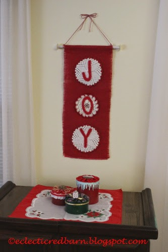 Eclectic Red Barn: JOY Christmas Banner
